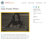 Anne Frank: Writer
