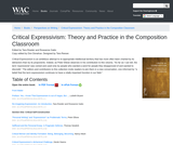 Critical Expressivism: Theory and Practice in the Composition Classroom