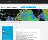 Acoustic Remote Sensing and Sea Floor Mapping