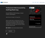 Professional Web Accessibility Auditing Made Easy: Essential Skills for Web Developers, Content Creators, and Designers
