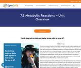 7.3 Metabolic Reactions