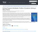 Writing Programs Worldwide: Profiles of Academic Writing in Many Places