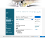 Foundations of Health Information Technology (Undergraduate) Course Materials
