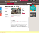 Brownfields Policy and Practice, Fall 2005