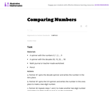 1.NBT Comparing Numbers