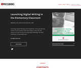 Launching Digital Writing in the Elementary Classroom
