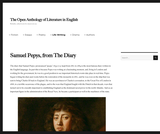 Samuel Pepys, from The Diary