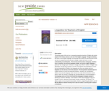 Linguistics for Teachers of English