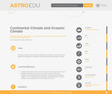 Continental Climate and Oceanic Climate