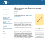 Grammatical theory: From transformational grammar to constraint-based approaches