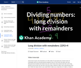 Arithmetic: More Long Division and Remainder Examples (Part 3 of 4)
