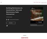 Building Maintenance & Construction: Tools and Maintenance Tasks