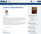 Evidence: Rape Shield Rule