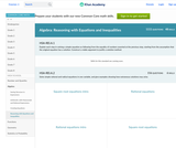 Algebra: Reasoning with Equations and Inequalities